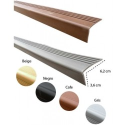 Nariz para Grada PVC 62 mm