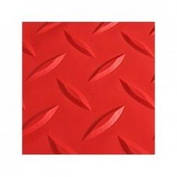 Piso PVC Diamantado Rojo
