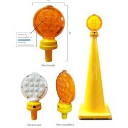Lámpara unidireccional destellante para conosLámpara unidireccional destellante para conos Lamparas, baliza tachas y boyas.