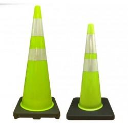 Cono Señalizacion Verde Fluor Anti Vuelco 70 y 90 cmsCono Señalizacion Verde Fluor Anti Vuelco 70 y 90 cms Vialidad: Conos, h...