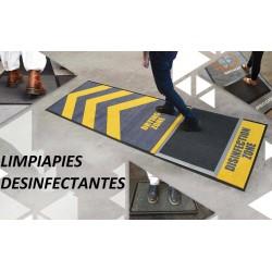 Limpiapies Alfombra con Logo Doble Funcion Seca y Atrapa