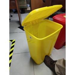 Basurero Plástico 50 litros con pedal PlásticoBasurero Plástico 50 litros con pedal Plástico Basureros con pedal de acero ino...
