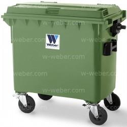 Contenedor de Basura 660 litros 4 ruedas