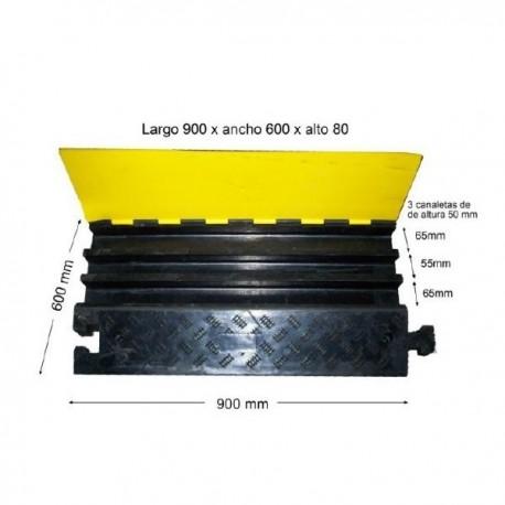 PROT. CABLES 90X60X8CM NEG/AMAR 3 CANAL HEAVY DUTYPROT. CABLES 90X60X8CM NEG/AMAR 3 CANAL HEAVY DUTY Protectores de Cable, Ma...