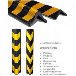 PROTECTOR PILAR ESTAC. 80X10X1CM NEG/AMAR ALTA RESISTENCIA