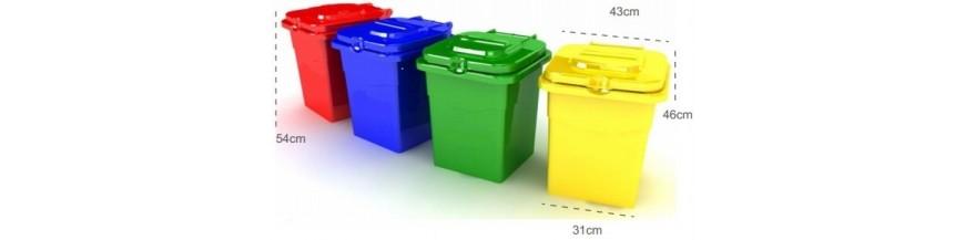 Variedades de Contenedores de Reciclaje y Pared en 50 litros