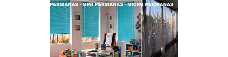 Micro Persianas y Mini Persianas